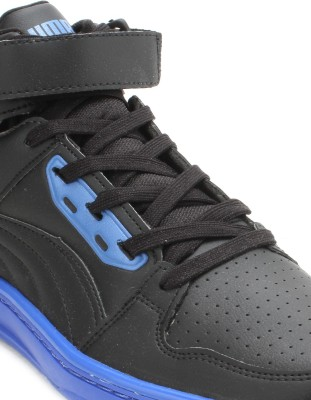 puma unlimited mid dp blue sneakers