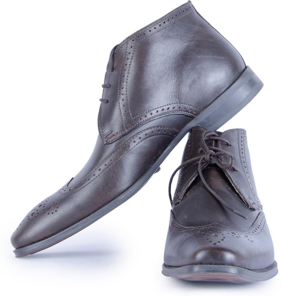 Burkley Brown KelverHi Pure Leather Formal Shoes