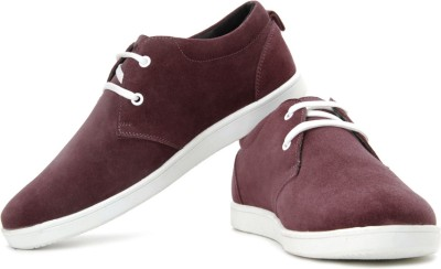 Flippd Suede Leather Low Ankle Sneakers at 20% Extra Off