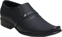 Oora Black With Fine Lining Design Slip On Shoes