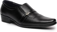 Feather Leather Genuine Leather Black Formal Shoes 033 Slip On Shoes Black