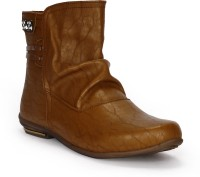Tic Tac Toe Boots Tan, Tan