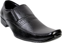 Nonch Le Black Slip On Leather Formal Shoes For Men Slip On
