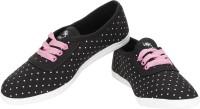 Baba Enterprises Polka Dot Casual Shoes Black, Pink