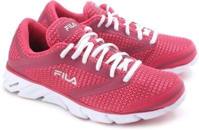 Fila Women's Speedweave Running Shoe, Black/Monument/Neon Pink