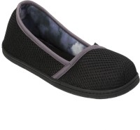Dearfoams Active Mesh Asymmetrical (Black) Espadrille Large Casuals, Corporate Casuals Black
