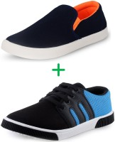 FU-ZONE Sneakers, Loafers Black, Blue, Orange