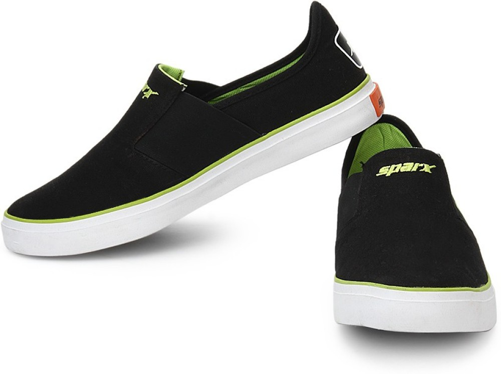 Sparx Casual Shoes Black Green