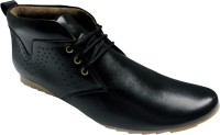Good Man Best Black Faux Leather Boots