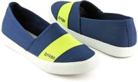 Devee B1986 Front Strap Blue - Green Canvas Shoes