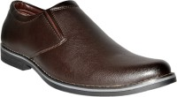 Leather Chief Slip On Shoes Brown