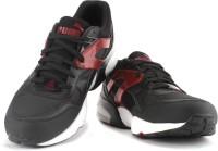 Puma R698 Mesh-Neoprene Mid Ankle Sneaker Black