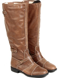 TEN TEN Women's Tan Knee Length Boots Boots