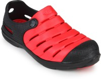 2B Collection Boys-Punch-Red-Black Clogs