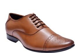 Bxxy Tan British Brogue Lace Up Shoes
