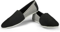 Funk Coug Black With Blk White Stripes Canvas Shoes