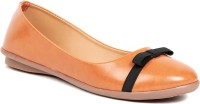 Lovely Chick Lovely Chick Brown Ballerinas SG-NAPABOW Bellies