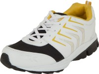 Zovi White And Black Sports With Yellow Accents Running Shoes