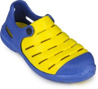 2B Collection Boys-Punch-Blue-Yellow Clogs