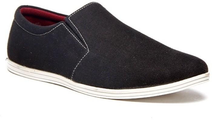Zapatoz Black Canvas Loafers - Buy Black Color Zapatoz Black Canvas Loafers Online At Best Price ...