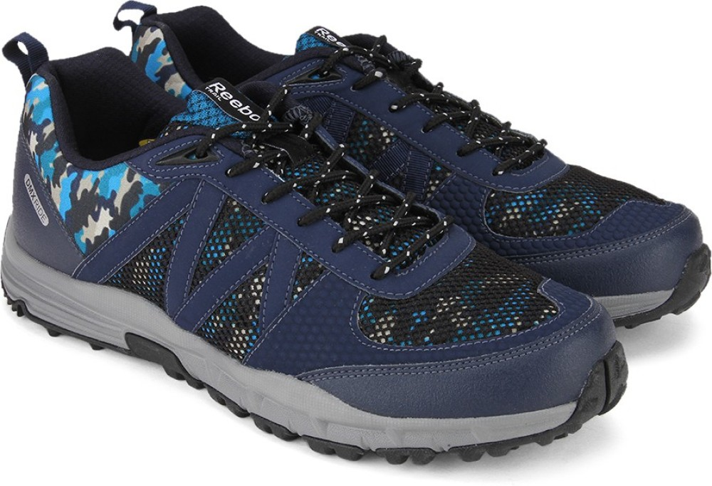 Reebok CAMO TREK Men Hiking Trekking Shoes Blue Navy