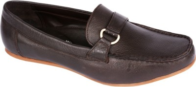 Pinellii Berlington Slip on Brown (Italian Hand Crafted) Slip On Shoes
