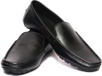 Adler Black Genuine Leather Classy Loafers