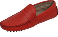 Hd Shoes Red Leather Loafers