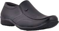 CW Men's Sizzling Black Formal Corporate Shoes Slip On