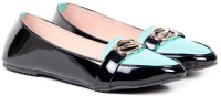 Ten Women Designer Front Green-Black Loafers