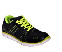 Clb Super Trendy Black And Lemon Running Shoes