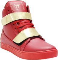 West Code West Code Men's Synthetic Leather Casual Shoes Gold-G-Red-9 Casuals