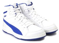 Puma Puma Rebound V2 Hi Jr Casual Shoe Blue, White