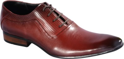 Pinellii Cappa Red Italian Hand Crafted Lace Up Shoes