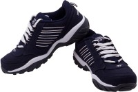Prozone Men Light Weight White Blue Sports Running Shoes
