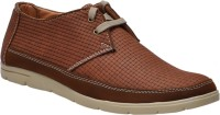 Cooper England Tan Checkered Casual Shoes