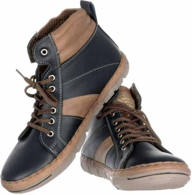 Moladz Hunted Men'S Faux Leather Boots