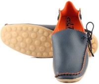 Anupamaa Side Laces Blue Loafers