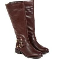 TEN TEN Women's Brown Knee Length Boots Boots