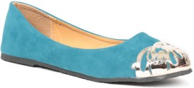 Lovely Chick Lyc Turquoise Ballerinas Closed Toe Belly