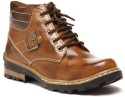 Zapatoz Two Tone Tan Buckled Boots