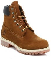 Timberland Mens Brown 6inch Premium Nubuck Leather Boots Boots