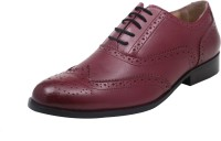 Harper Woods Classic Oxford Red Wine Lace Up Shoes Lace Up Red