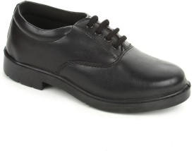 Liberty Skoolboypu-Black Lace Up Shoes
