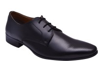 Hirel's Black Office Wear Derby Lace Up Shoes