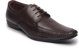 Feather Leather Genuine Brown Lace Up Shoes