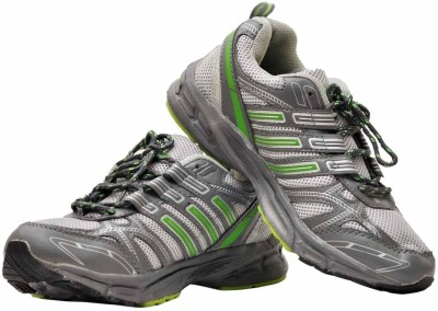 Bluez Grey and Green Casual Sports Sneakers