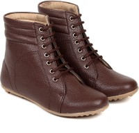TEN Brown Ankle Length Leather Boot Boots
