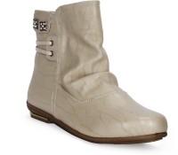 Tic Tac Toe Boots Beige, Beige