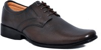 Zoom Zoom Branded Men's Pure Leather Formal Shoes D-61-Brown-6 Lace Up